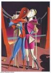 Ettore e Andromaca (as Spiderman & Gwen), after Giorgio De Chirico