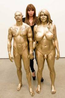 Buck Angel and Allanah Starr by artist Marc Quinn